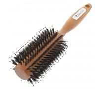 Расческа Scarlet line для укладки волос деревянная, со смешанной щетиной 28 мм.