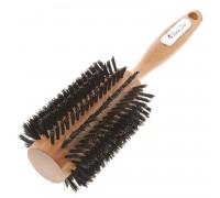 Расческа Scarlet line для укладки волос деревянная, с натуральной щетиной, 35 мм.