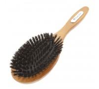 Расческа Scarlet line для волос деревянная, массажная с натуральной щетиной