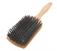 Расческа Scarlet line для волос массажная, деревянная с натуральной щетиной