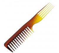 Гребень для расчесывания и укладки волос с пластиковой вилкой, Scarlet line, 20,5 см.